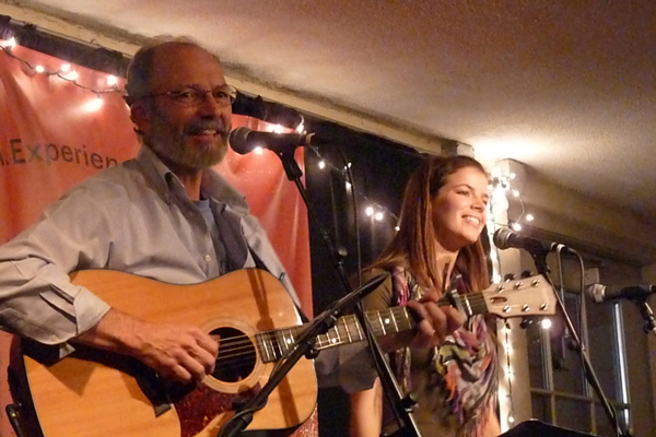 Tom and Mally at Passim