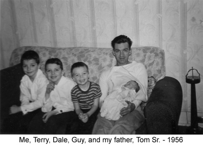 Tom Sr. with sons, 1956